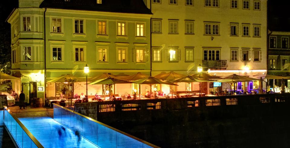 Ljubljana de noche con Nokia