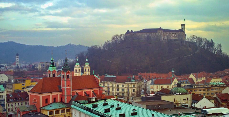 Ljubljana una tarde de invierno
