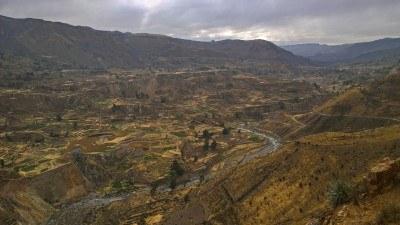 Valle del Colca con sus terrazas de cultivo