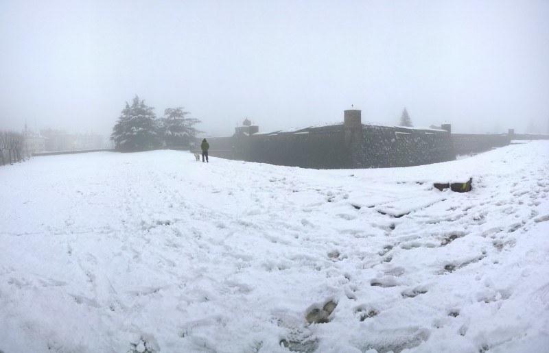 La Ciudadela cubierta de nieve