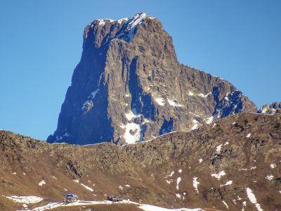 Truchas (en Astún) con el Midi detrás
